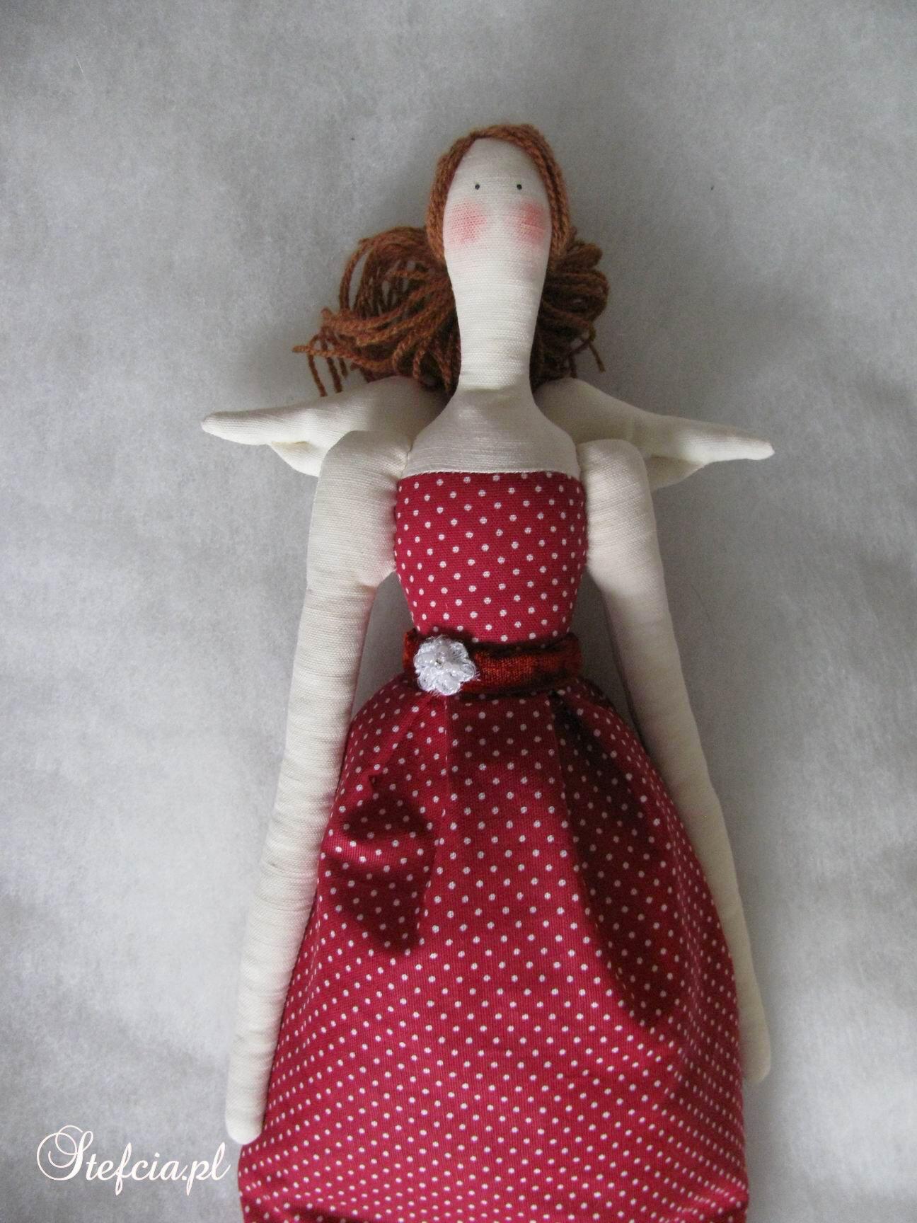 tilda aniolek sukienka w kropki czerwone gora _01